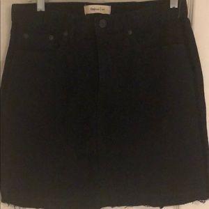 Black denim skirt never been worn